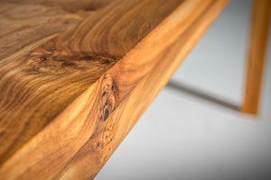 Eetkamertafel iepenhout op maat