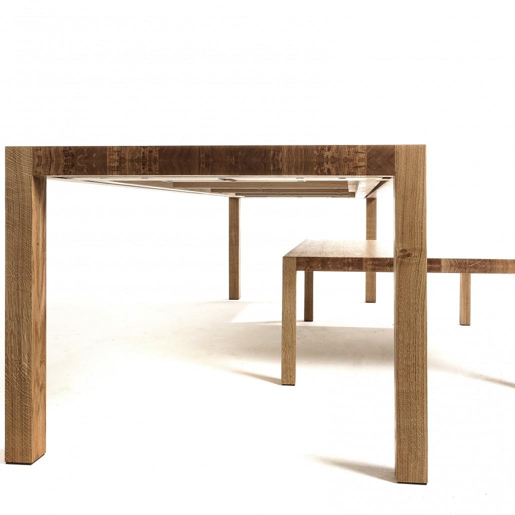 Salontafel massief eikenhout strak vormgegeven salontafel for Tafel op maat