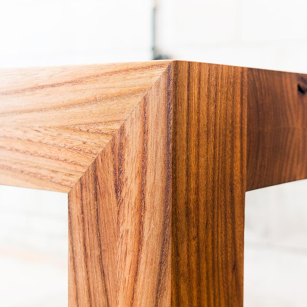 tafel iepenhout verstekverbinding
