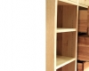 Boekenkast-met-lades-massief-olijfessenhout