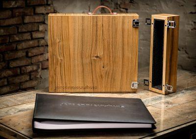 Houten koffer kersenhout